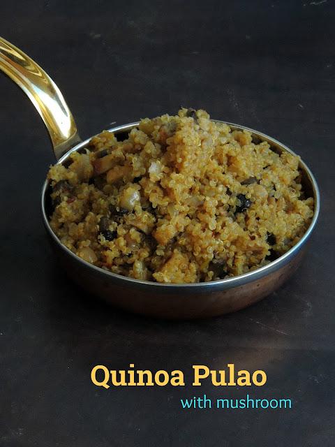 Quinoa Pulao, Mushroom Quinoa Pulao
