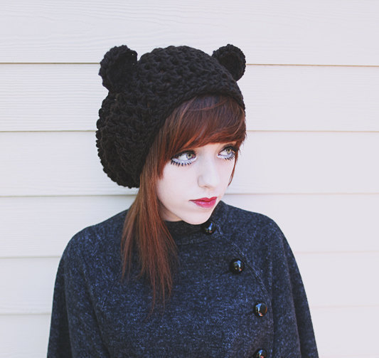 teddy bear hat from etsy