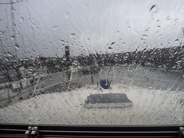 Photo of today's (Friday) view through Ravensdale's windscreen