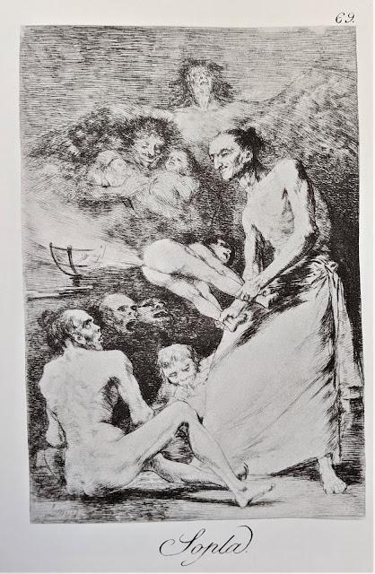Goya's etching: Sopla