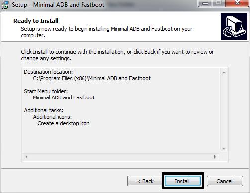 Installing Minimal ADB dan Fastboot 6