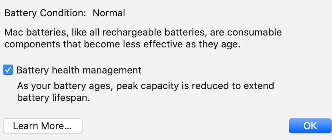 fungsi battery health macbook