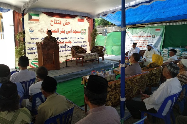 Syech Jasim Abdul Rozak Al-Hasan Hadiri Peresmian Masjid Arrayan di Delanggu