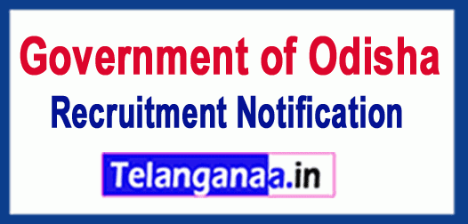 Government of Odisha Recruitment Notification