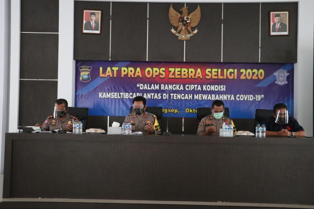 Polres Lingga Lakukan Latihan Pra Operasi Zebra Seligi 2020
