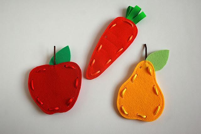 Frutti lacing cards, handmade by TomToy Ola Loginova
