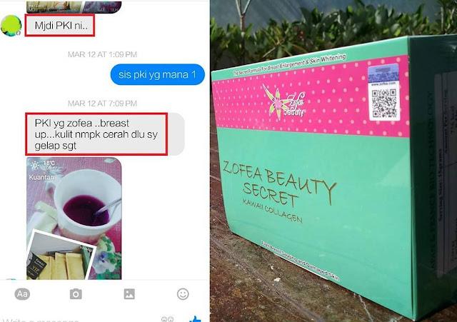 Testimoni Zofea Beauty Secret