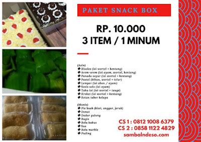 harga aneka snack daerah Tangerang