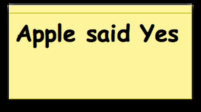 apple-said-yes