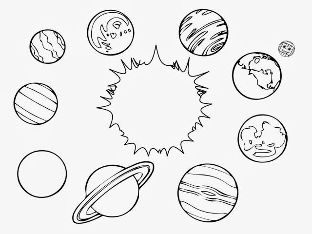 Solar System Coloring Pages - Solar System Pics