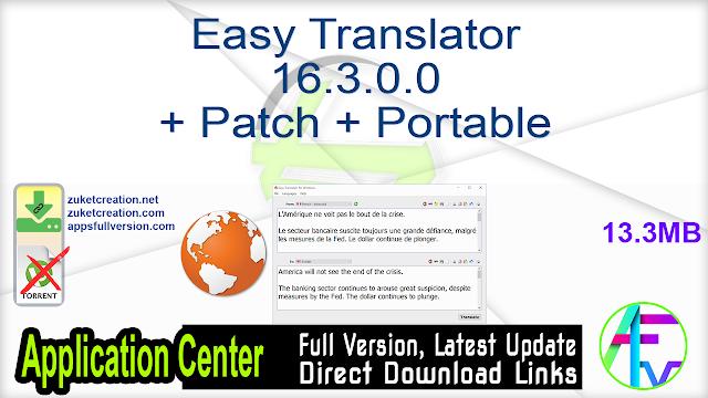 Easy Translator 16.3.0.0 + Patch + Portable