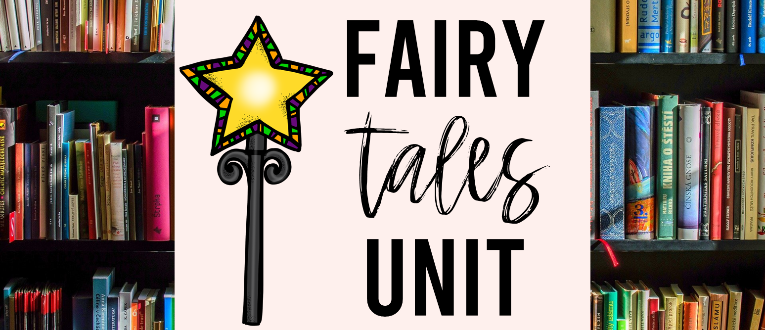 Fairy Tales activities unit with Common Core aligned literacy companion activities for First Grade and Second Grade