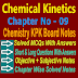 Chemistry Class 11 Notes | Chemical Kinetics | Chapter Nine