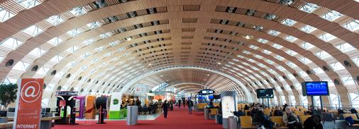 Intérieur aéroport de Roissy Charles de Gaulle