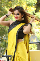 Cute Actress Ashwini in Yellow Saree Exclusive  024.JPG