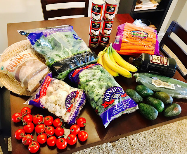 Costco bargain vegetables and fruits vegan shopping