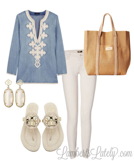 Chambray and Cream, with Tory Burch and Kendra Scott