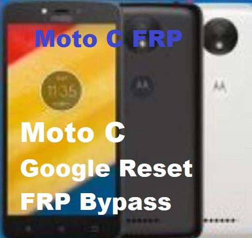 Motorola Moto C XT1754 google account reset and FRP bypass