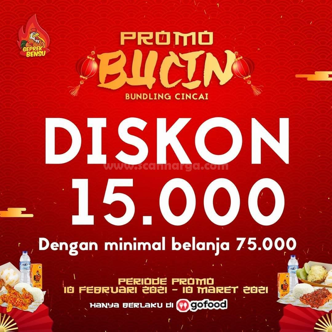 Promo Geprek Bensu Diskon 10 Februari - 10 Maret 2021