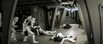 Stormtroopers advancing; deleted scene from Return of the Jedi