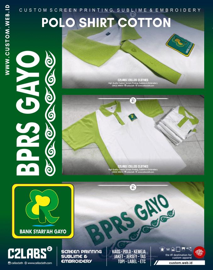 BPRS Gayo Polo Shirt Custom Bordir Komputer - Konveksi Polo Kerah Jogja
