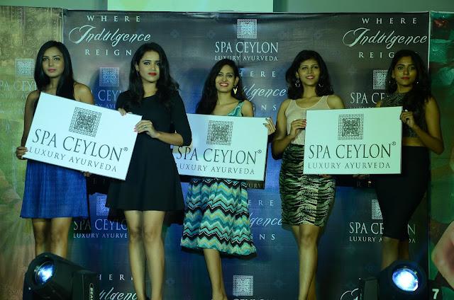 Spa ceylon Luxury Ayurveda Pre launch fashion show held at jubileehills