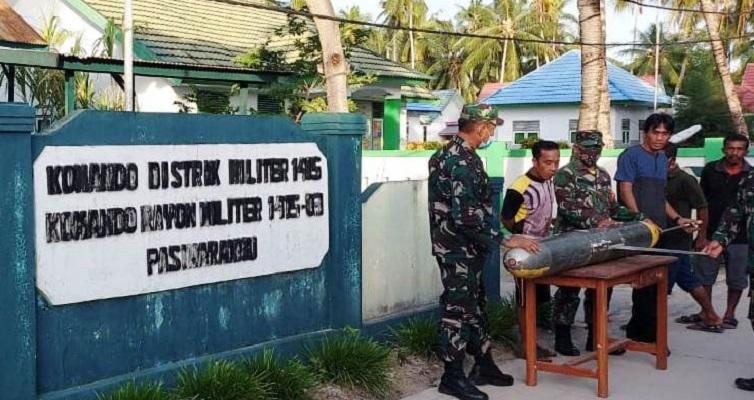 Pesawat Tanpa Awak Mirip Rudal Dilengkapi Camera Pengintai Ditemukan Nelayan di Selayar