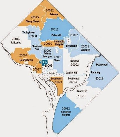 Washington Dc Zip Code Map | Zip Code MAP