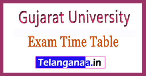 Gujarat University BHMS,BA ,BA ,BBA ,BCA ,BCom ,BSc ,MA ,MCom ,MSc  Latest Exam Time Table