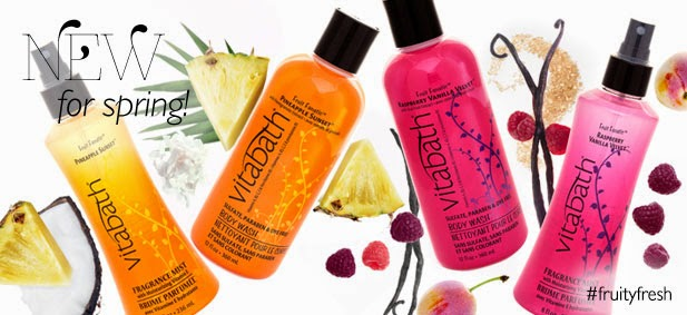 Vitabath #FruityFresh Spring Scents Pineapple Sunset Raspberry Vanilla Velvet Body Wash and Fragrance Mist