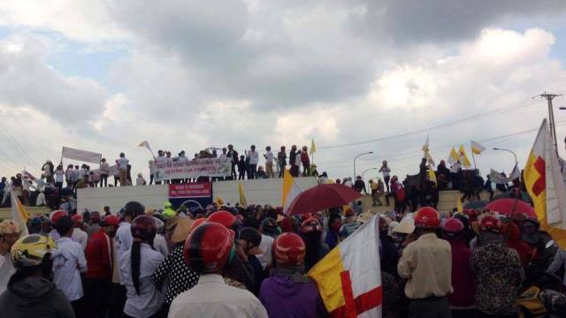 Kết quả hình ảnh cho các nhà đấu tranh biểu tình ủng hộ ngư dân miền Trung ngày 02 10 2016