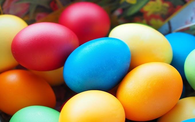 Páscoa Época De Ovos Coloridos