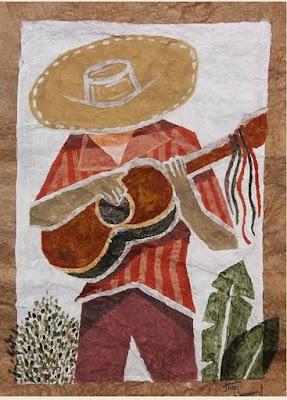 Fandango Caiçara. Pintura de Jhon Bermond.