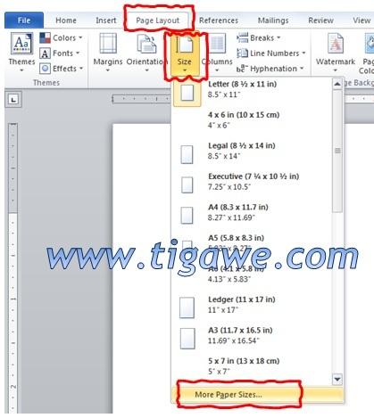 Cara Membuat Ukuran Kertas F4 Folio Di Ms Word 2010