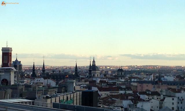 Corte ingles, terrazza panoramica, vista su madrid, Madrid, cosa vedere a madrid, itinerario a madrid, due giorni a Madrid, blogger madrid, madrid dall'alto