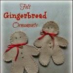 Felt Gingerbread Men Ornaments