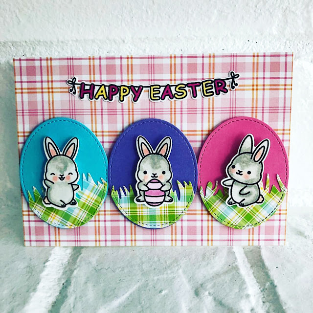 Sunny Studio Stamps: Chubby Bunny Customer Card by Lori