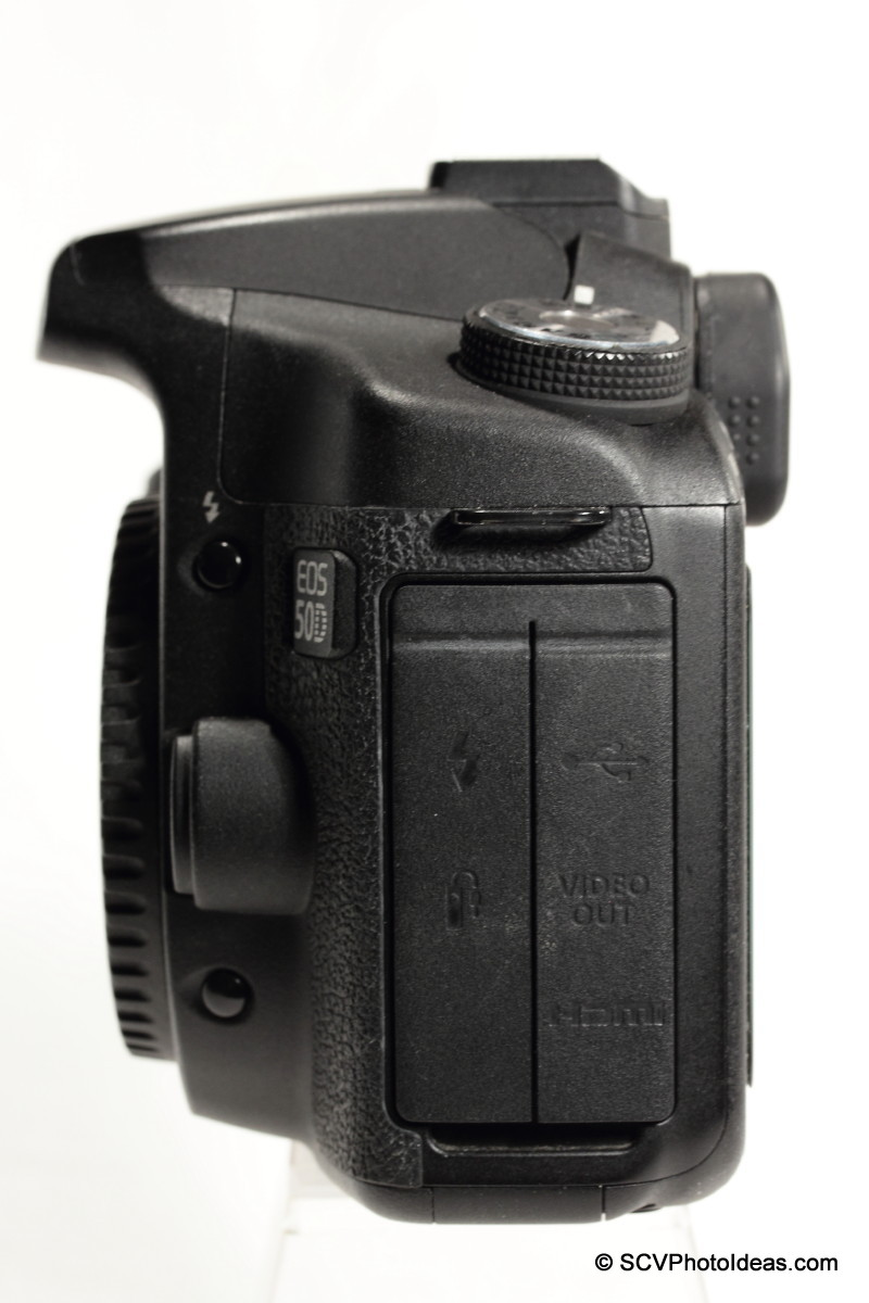 Canon EOS 50D Digital Camera left side - connector covers