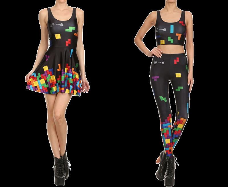 одежда в стиле тетрис