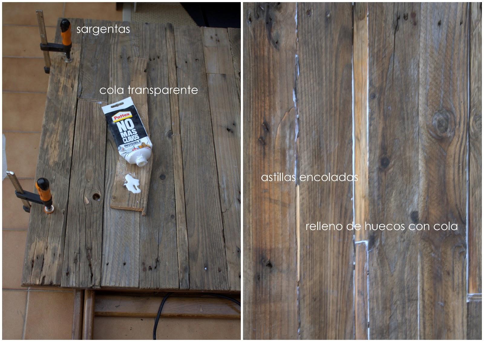 Hacer mesa de madera rustica
