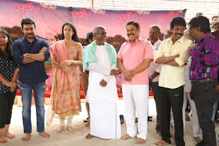 Suriya Jyothika Stills At Naachiyaar Movie Pooja Photos