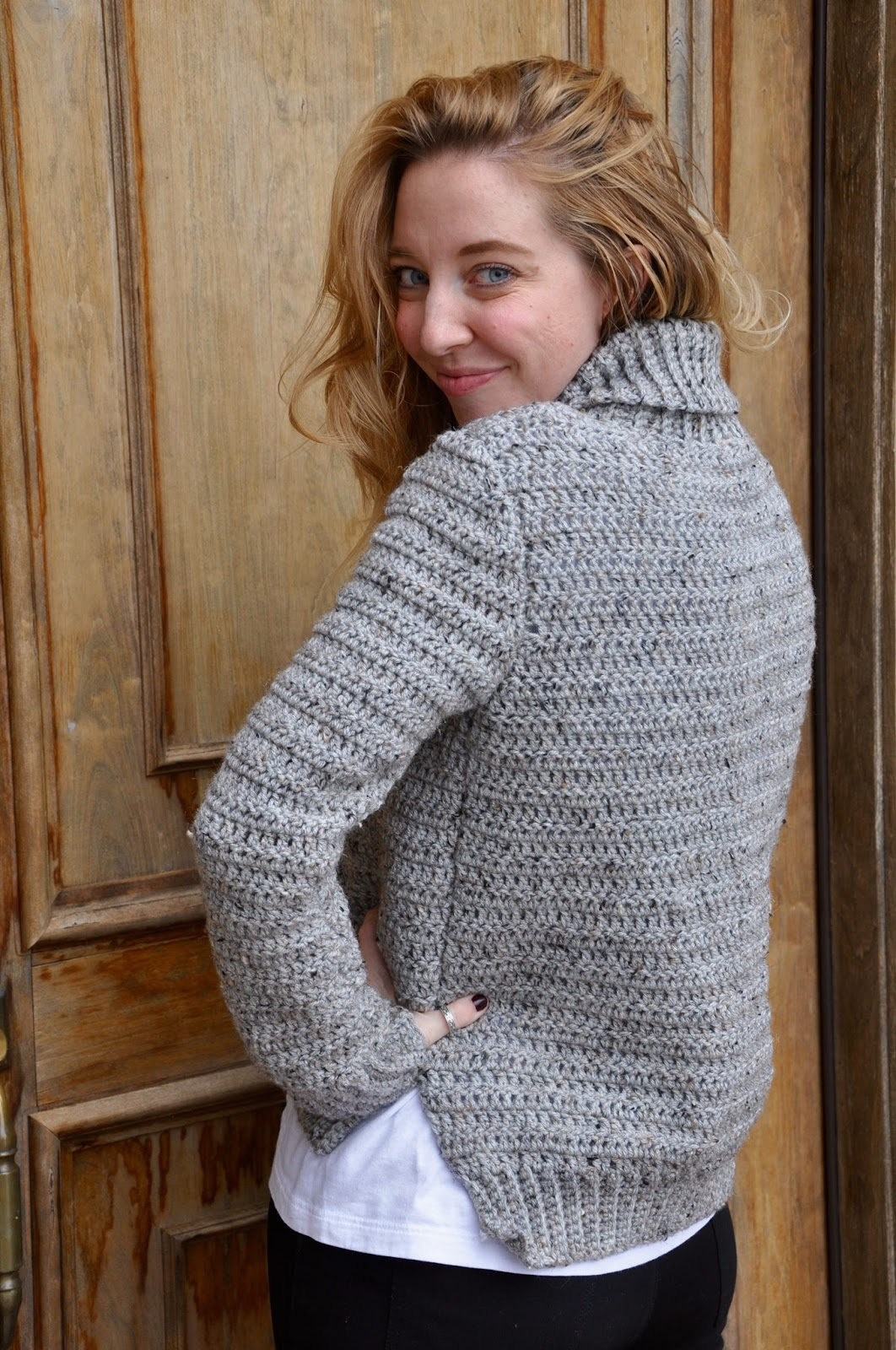 444aa188ccf05f Sans Limites Crochet  Cable Turtleneck Sweater! Finally! A New ...