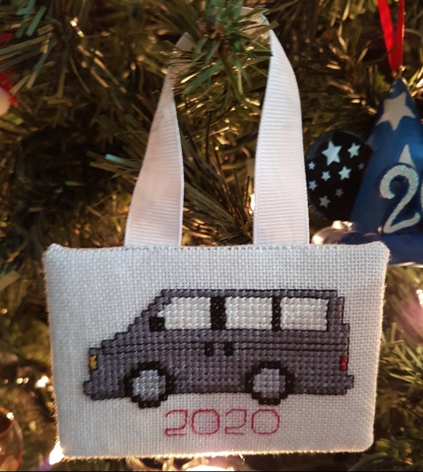 Cross stitch van ornament | DevotedQuilter.com