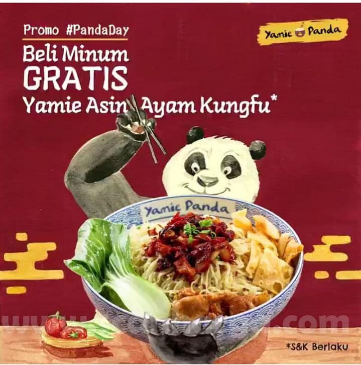 Promo Yamie Panda Beli Minuman! Dapatkan Gratis Yamie Asin Ayam Kungfu
