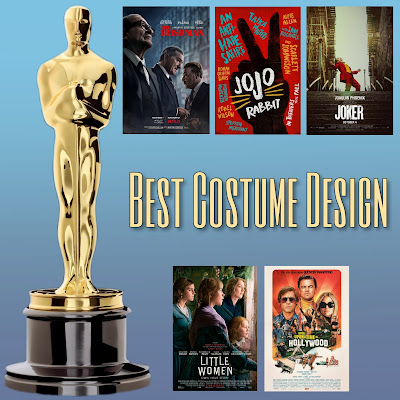 The Irishman, Jojo Rabbit, Joker, Little Women, and Once Upon a Time in Hollywood costume design 92nd Oscars nominees