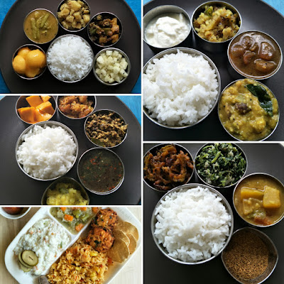 South Indian everyday meal