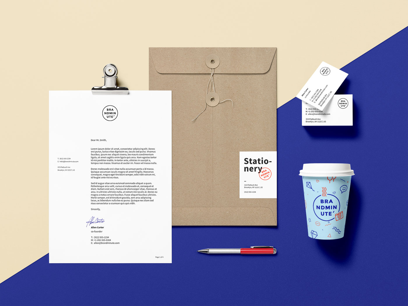 Stationery Branding Mockup Bundle