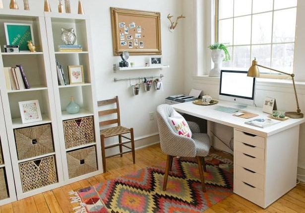 how to organize home office clean desk minimalist workplace design neat work space