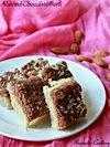 Almond Chocolate Burfi ( Fudge )