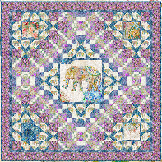Bohemian Dreams (Purple) Quilt designed By Danhui Nai for Bear Creek Quilting Company